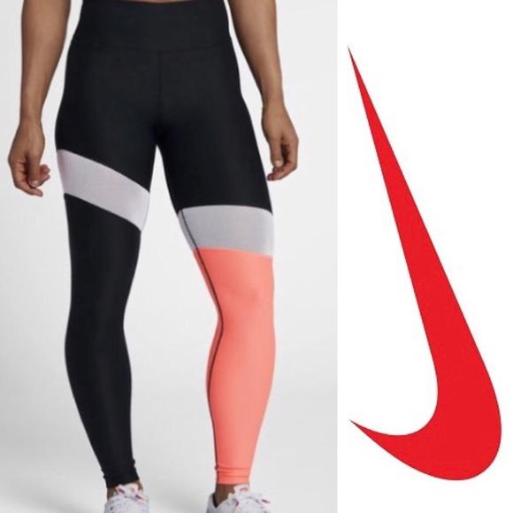 fb05876df9867 Nike Pants | Sale Power Training Tights Color Block | Poshmark